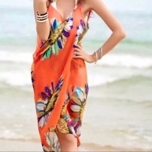 Other - ORANGE BEACH cover up bathing suit wrap DRESS swim